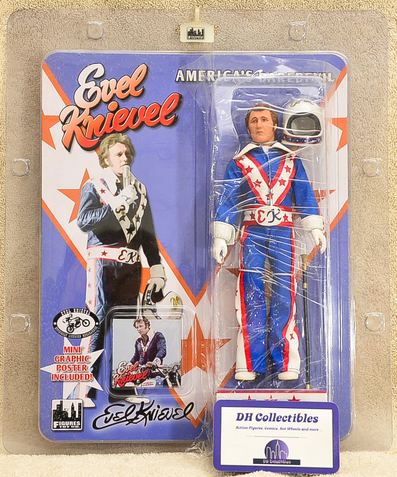 Figures Toy Co - Evel Knievel Blue - 8 inch Action Figure
