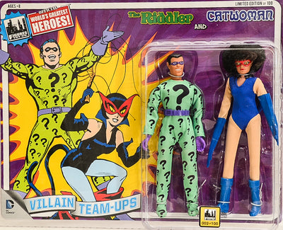 2015 DC Superhero Limited Edition Series 4 Two-Packs -  *RARE* The Riddler & Catwoman 8