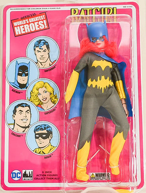 "2017 Figures Toy Co Batgirl Gray Costume 8"" Mego Retro Action Figure"