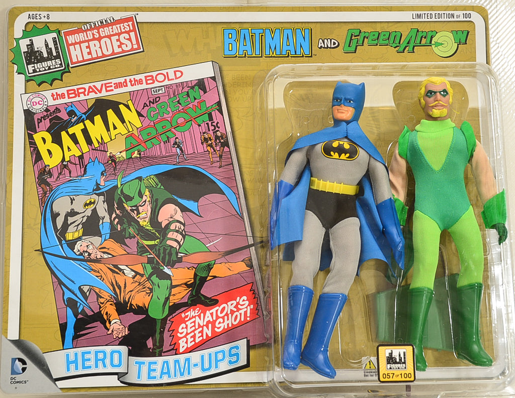 2014 DC Comics Series 2 Hero Team-ups Two Pack - Batman and Green Arrow  Limited Edition Action Figures
