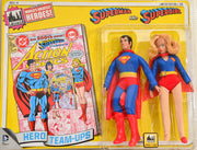 2014 DC Comics Series 1 Hero Team-ups Two Pack - Superman and Supergirl  Limited Edition Action Figures