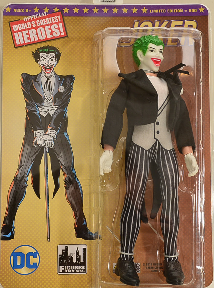 2016 Figures Toy Co Retro Black Outfit Joker Action Figure Limited Edition of 500
