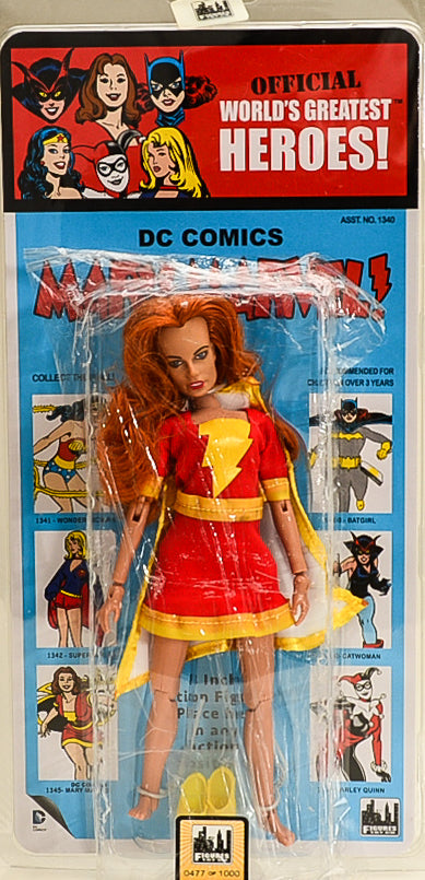 "2015 DC Comics Kresge Style Mary Marvel 8"" Action Figure Limited Edition 0477 of 1000"