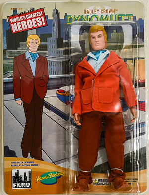 "2017 Figures Toy Co Hanna Barbera Radley Crown Dynomutt Action Figure 8"" Mego Retro"