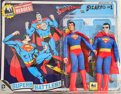 2015 DC Comics Superb Battles Two-Pack Series 3 Superman VS Bizarro Limited Edition Action Figures