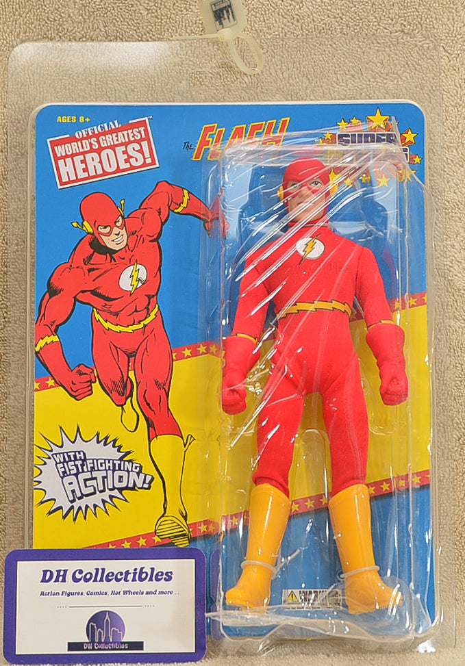 "Figures Toy Co. - World's Greatest Heroes Series 3 - The Flash Super Powers  Action Figure 8"" Mego Retro"