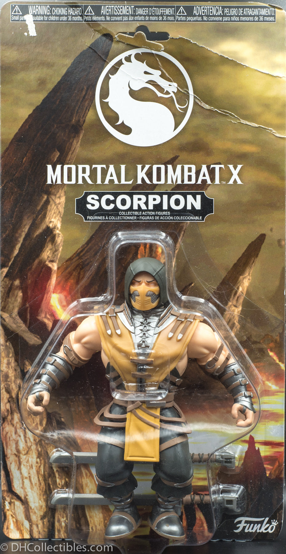 2017 Funko Savage World Mortal Kombat X Scorpion Action Figure