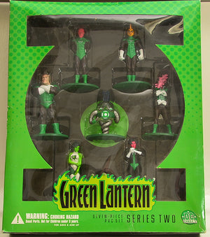 2001 DC Direct Green Lantern Series Two  Seven Piece Action Figure Set