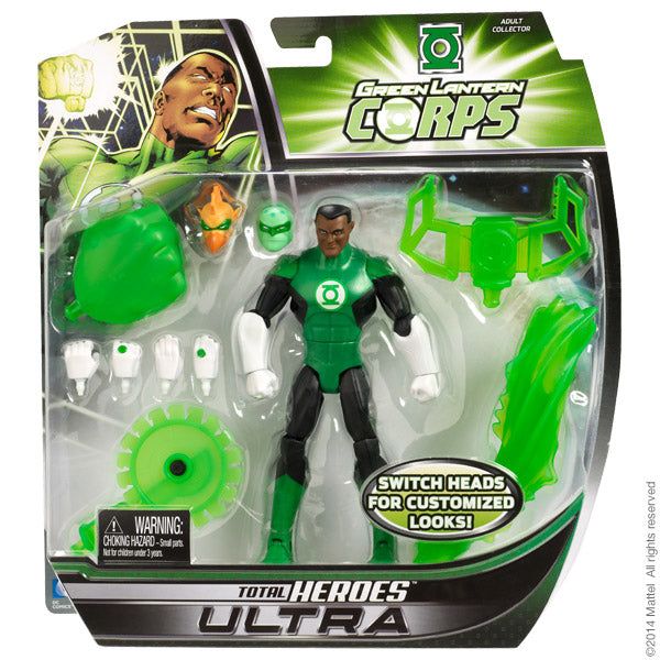 """DC Comics Total Heroes Green Lantern Corps Sinestro Action Figure 6/"""" collector"""