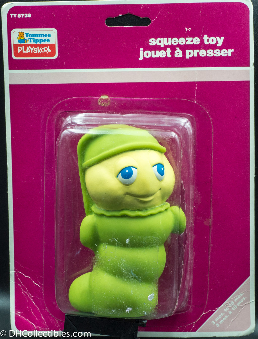 1987 Tommee Tippee Playskool Glow Worm - Squeeze Toy