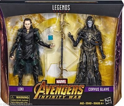 2018 Hasbro Marvel Legends Infinity War Loki & Corvus Glaive Action Figures