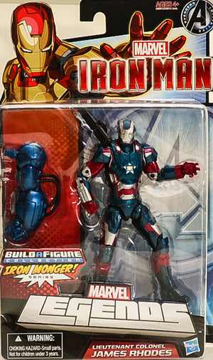 2012 Marvel Iron Man Lieutenant Col James Rhodes Action Figure BAF Iron Monger