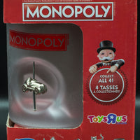 Monopoly Frosted Coffee Tea Mugs Built-In Game Pieces - FULL SET OF 4