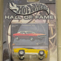 Hot Wheels Hall of Fame Series Greatest Rides Plymouth GTX Yellow w/ Real Riders