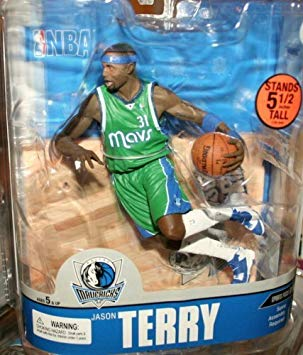 2007 NBA Dallas Mavericks Sports Picks Series 13 Jason Terry Green Outfit- Action Figure