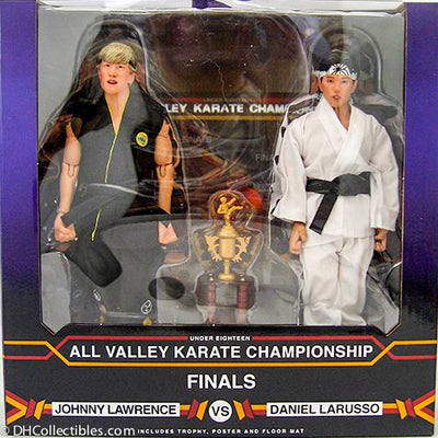 2019 KARATE KID 1984 ALL-VALLEY KARATE CHAMPIONSHIPS TOURNAMENT CLOTH 8-INCH ACTION FIGURE 2-PACK