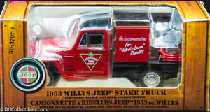 Vintage 1953 Willys Jeep Stake Truck - Canadian Tire Corp Bank - Limited Edition # 0210