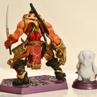 2007 Masters of the Universe Modern Series NECA Jitsu and Odiphus Mini Statue - Loose