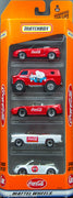 1998 Matchbox Coca-Cola Mattel Wheels 5 Pack Gift Set 1998 Diecast Cars
