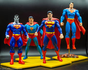 2006 DC Direct Superman Through the Ages Boxset - All 4 Action Figures - Loose