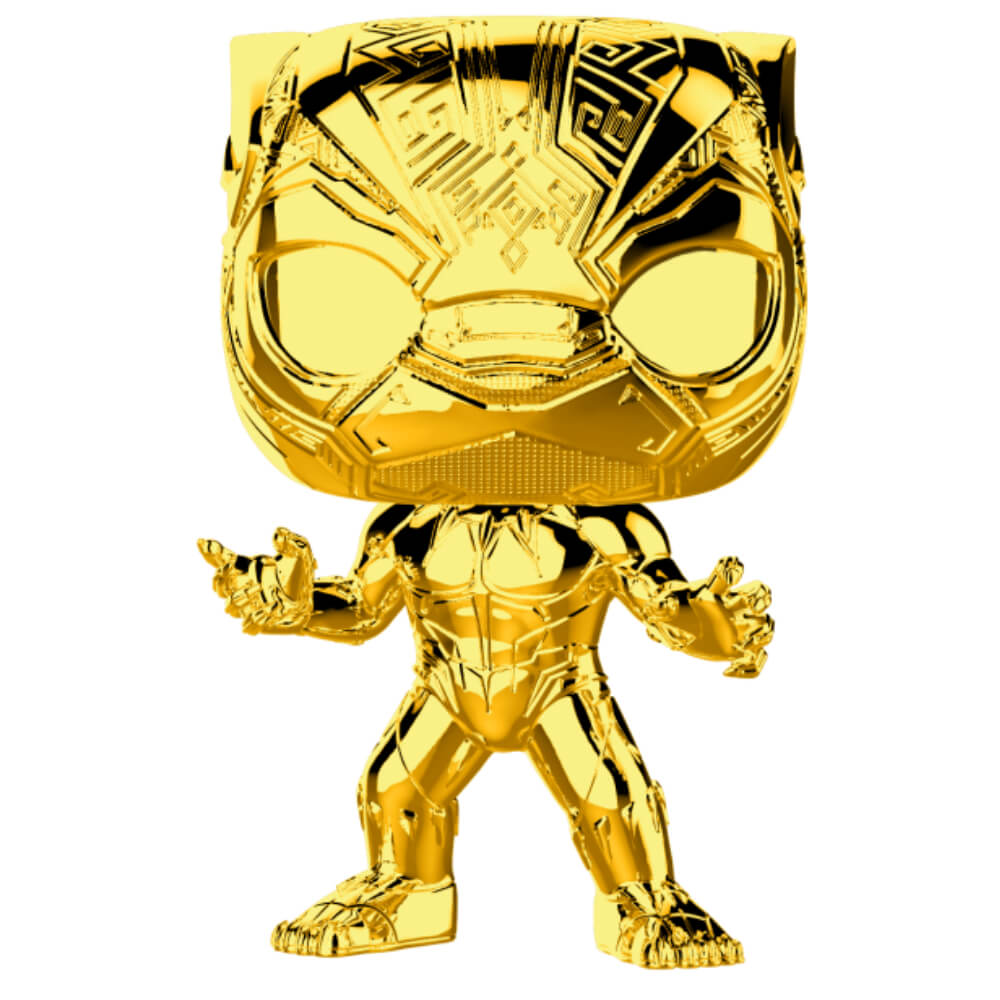 Funko Pop! Marvel Studio's 10th Anniversary Chrome Black Panther Figure # 383