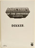 2012 Masters of the Universe Classics Dekker Action Figure