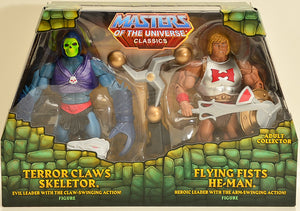 2015 Masters of the Universe Classics Terror Claws Skeletor & Flying Fists He-Man Action Figure Box Set