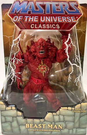 2015 Mattel Masters of the Universe Red Beast Man Action Figure Power-Con Exclusive