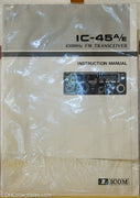 Icom IC-45A/E Amateur Radio Instruction Manual