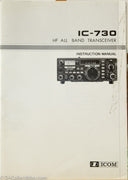 Icom IC-730 Amateur Radio Instruction Manual
