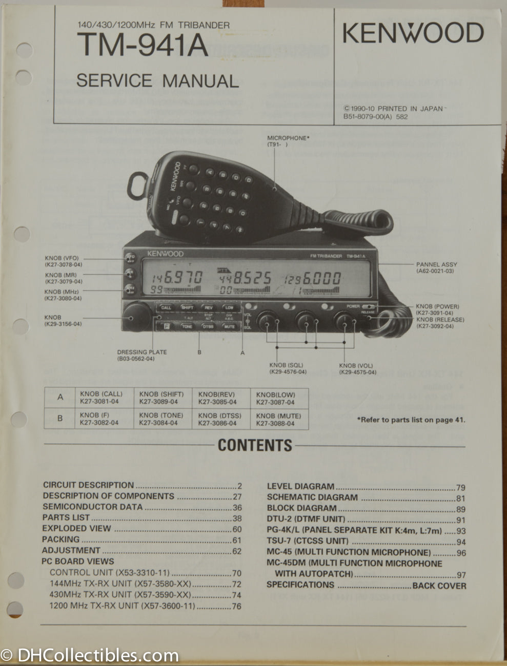 Kenwood TM-941A Amateur Radio Service Manual