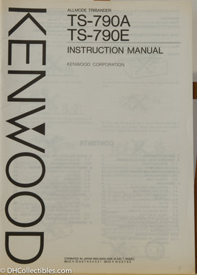 Kenwood TS-790A/E Amateur Radio Instruction Manual