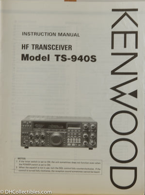 Kenwood TS-940S Amateur Radio Instruction Manual