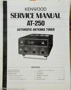 Kenwood AT-250 Amateur Radio Antenna Tuner Service Manual