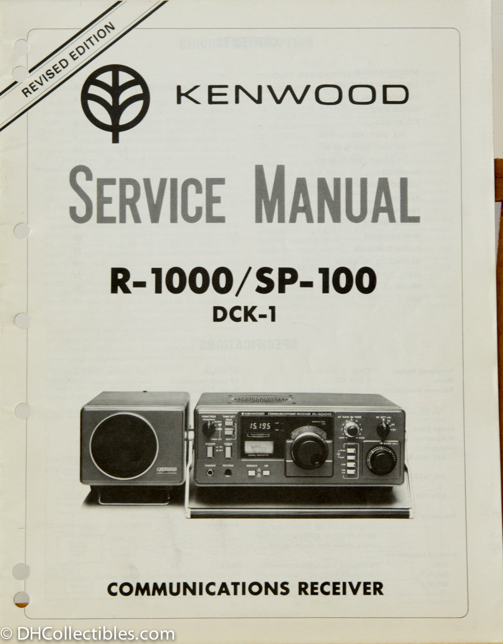 Kenwood R 1000 Shortwave Amateur Radio Service Manual Dh Collectibles