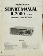 Kenwood R-2000 Amateur Radio Service Manual