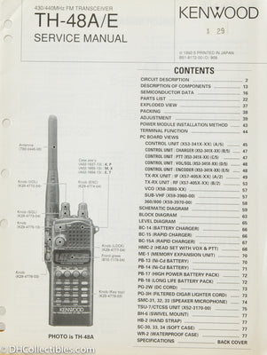 Kenwood TH-48A Amateur Radio Service Manual