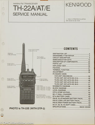 Kenwood TH-22 A/E Amateur Radio Service Manual