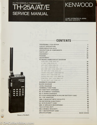 Kenwood TH-25 A/E Amateur Radio Service Manual