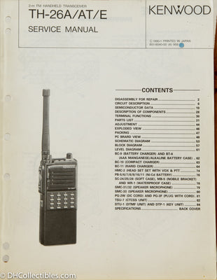 Kenwood TH-26 A/E Amateur Radio Service Manual