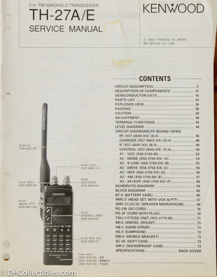 Kenwood TH-27A/E Amateur Radio Service Manual