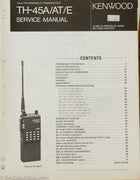 Kenwood TH-45 A/E Amateur Radio Service Manual
