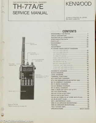 Kenwood TH-77 A/E Amateur Radio Service Manual