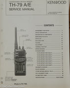 Kenwood TH-79 A/E Amateur Radio Service Manual