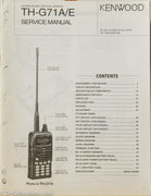 Kenwood TH-G71A Amateur Radio Service Manual