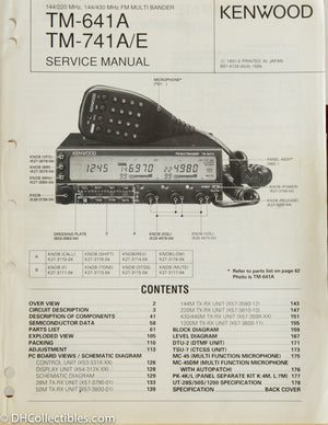 Kenwood TM-641 / TM-741 A/E Amateur Radio Service Manual