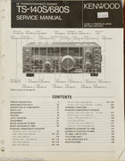 Kenwood TS-140S / TS-680S Amateur Radio Service Manual
