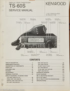 Kenwood TS-60S Amateur Radio Service Manual