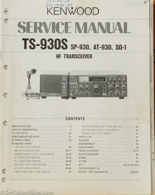 Kenwood TS-930S Amateur Radio Service Manual