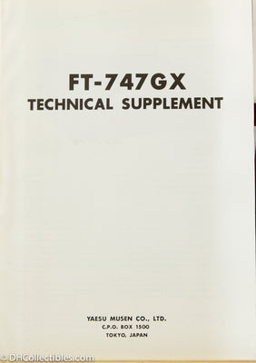 Yaesu FT-747GX Amateur Radio Service Manual